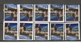 Belgique 2013 - Noël - Série Complète De Carnet S/ Fragment - Petit Lot De 10 ° - 3 Timbres Différents - Belgique