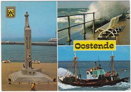 Oostende - Nationaal Monument Voor De Zeelieden, Vissersschip, Storm - Oostende