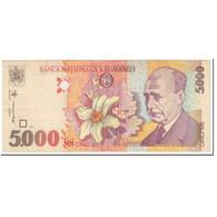 Billet, Roumanie, 5000 Lei, 1998, Undated (1998), KM:107b, TTB - Romania