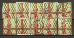 Belgique 2014 - Noël - Série Complète De Carnet S/ Fragment - Petit Lot De 10 ° - 4 Timbres Différents - Belgique