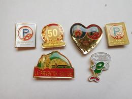 Belle Série De 6 Pin's Sur La Prévention Routiére Et La Sécurité Routiére , Auto - Pin's