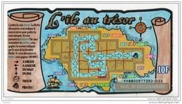 """TIKET PERDANT DE LOTERIE """" L'ÎLE AU TRÉSOR """" . PIRATES . La Française Des Jeux - Réf. N°4446 - - Lottery Tickets"""