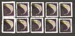 Belgique 2013 - Condoléances - Arum - Série Complète De Carnet S/ Fragment - Petit Lot De 10° - 4 Timbres Différents - Belgique