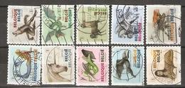 Belgique 2012 - Animaux Mythologiques - Série Complète De Carnet S/ Fragments Partiels - Petit Lot De 10 Différents° - Belgique