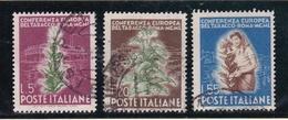 1950 Italia Italy Repubblica TABACCO  TOBACCO Serie Di 3v. Usati USED - Tabacco