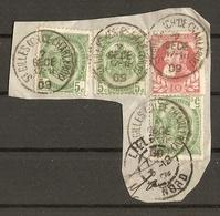 Belgique 2 DECE 1909 - Fragment Avec Cachet  - St Gilles - Ch De Charleroy - Cob 74/81 + Cachet De Réception Lille Nord - Autres