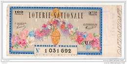 FRANCE . LOTERIE NATIONALE 1939 - Réf. N°4885 - - Lottery Tickets