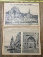 ANNEES 20/30 LE MASSACRE DE DINANT RUINES DE L EGLISE CITADELLE - Collections