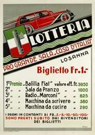 Italian Car Automobile Postcard FIAT Balilla 1933 Lotteria Losanna - Reproduction - Advertising