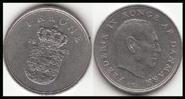 Danimarca 1 Krone 1963 (C ♥ S) KM#851.1 - Used - Danimarca