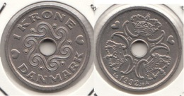 Danimarca 1 Krone 1992 KM#873.1 - Used - Denmark