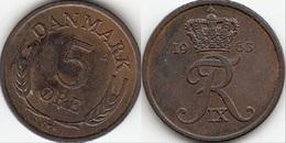 Danimarca 5 Øre 1963 (C ♥ S) KM#848.1 - Used - Danimarca