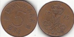 Danimarca 5 Øre 1973 (S ♥ B) KM#859.1 - Used - Danimarca