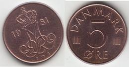 Danimarca 5 Øre 1981 (B ♥ B) Km#859.2 - Used - Denmark