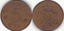 Danimarca 5 Øre 1973 (S ♥ B) KM#859.1 - Used - Denmark