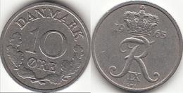 Danimarca 10 Øre 1965 (C ♥ S) KM#894.1 - Used - Denmark