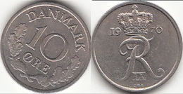 Danimarca 10 Øre 1970 (C ♥ S) KM#894.1 - Used - Denmark