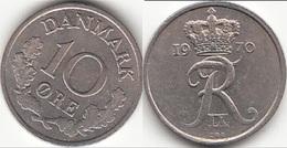 Danimarca 10 Øre 1970 (C ♥ S) KM#894.1 - Used - Danimarca