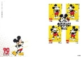 Portugal & FDC  90 Years Mickey Mouse, Autoadesivos 2018 (6820) - Comics