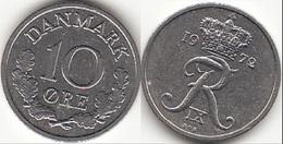 Danimarca 10 Øre 1972 (S ♥ S) KM#849.2 - Used - Denmark