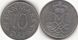 Danimarca 10 Øre 1975 (S ♥ B) KM#860.1 - Used - Denmark