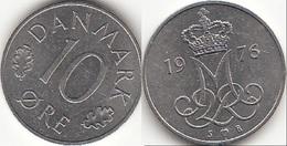 Danimarca 10 Øre 1976 (S ♥ B) KM#860.1 - Used - Denmark