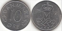 Danimarca 10 Øre 1977 (S ♥ B) KM#860.1 - Used - Danimarca