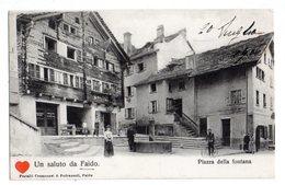 35854-ZE-SUISSE-Canton Du Tessin-Un Saluto De Faido-Piazza Della Fontana-------------animée - TI Tessin