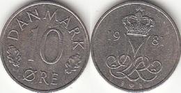 Danimarca 10 Øre 1981 (B ♥ B) KM#860.2 - Used - Denmark