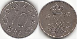 Danimarca 10 Øre 1985 (R ♥ B) KM#860.3 - Used - Danimarca