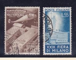 1951 Italia Italy Repubblica FIERA DI MILANO Serie Di 2v. Usata USED - 6. 1946-.. Repubblica