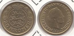 Danimarca 20 Kroner 1991 KM#871 - Used - Danimarca