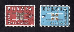Belgio - 1963 - Europa  CEPT - 2 Valori - Usati - (FDC12040) - Europa-CEPT