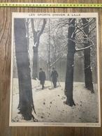 ANNEES 20/30 SKIEURS AU BOIS DE LA DEULE  A LILLE CITADELLE - Collections