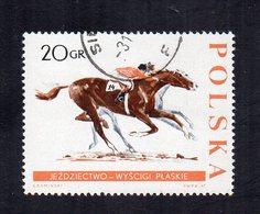 Polonia - 1967 - Francobollo Tematica Sport - Ippica - Usato - (FDC12042) - Ippica
