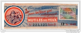 FRANCE . LOTERIE NATIONALE . 1942 - Réf. N°4906 - - Lottery Tickets