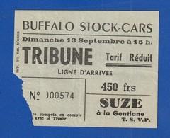 Ticket  Course De Voitures BUFFALO STOCK CARS 1953   ( Très Très Bonne TENUE ) Ti 400 - Tickets D'entrée