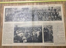 ANNEES 20/30 LE PELERINAGE A LOURDES DU DIOCESE DE LILLE GROUPE DE BRANCARDIERS MLLE HOTOIS - Collections