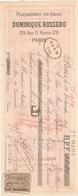 Lettre De Change Dominique Rossero 179 Rue St Martin Paris 75 Peausseries En Gros - Bills Of Exchange