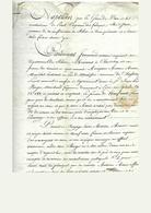 Obligation De 900 Francs Du 06 Juillet 1811 Fait à Chasselay Rhône Sous Napoleon 1 Empereur - Seals Of Generality