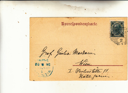 Karlsbad, Boemia. Impero Austro Ungarico, Post Card Used To Wien 1903 - 1850-1918 Impero