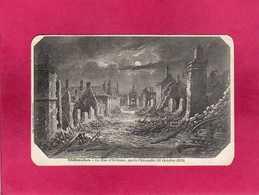 28 Eure Et Loir, Châteaudun, La Rue D'Orléans, Après L'Incendie (18 Octobre 1870), Précurseur, (Laussedat) - Chateaudun