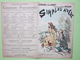 Partition - SIMPLE AVEUX (romance) Chanson De Jean VARNEY, Répertoire De Harry FRAGSON - Dessin Ulysse ROY - Scores & Partitions