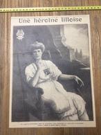 ANNEES 20/30 HEROINE A LILLE LOUISE DE BETTIGNIES PEINTRE BULTEAU - Collections