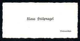 B7286 - Dreiwerden - Klaus Stülpnagel - Visitenkarte - Visitenkarten