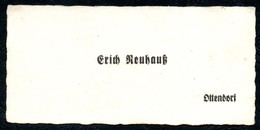 B7288 - Ottendorf - Erich Neuhauß - Visitenkarte - Visitenkarten