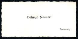 B7290 - Tanneberg - Helmut Rennert - Visitenkarte - Visitenkarten