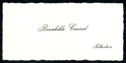 B7292 - Falkenhain - Grunhilde Conrad - Visitenkarte - Visitenkarten