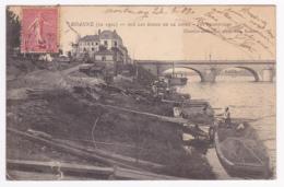 Roanne (en 1904) Sur Les Bords De La Loire - Les Dragueurs (déchargement Des Chalands à La Brouette) Circ 1907 - Roanne
