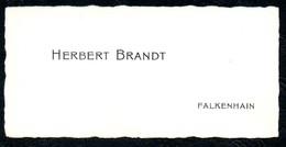 B7294 - Falkenhain - Herbert Brandt - Visitenkarte - Visitenkarten